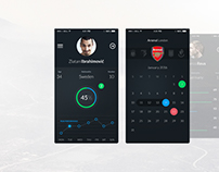 Football App UI Set