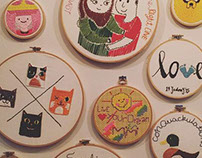 CRAFT :  Wall of stitches
