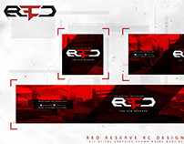 Red Reserve RC Social Media design