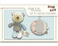 Design of Freddie & Flo plush products for Tesco