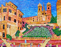 The Spanish Steps - Made with Recycled Material