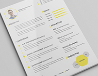 Premium CV/Resume PSD Template with Cover Letter
