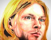 Ilustracion Kurt Cobain