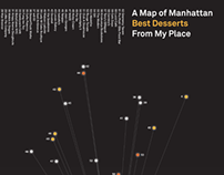 A Map of Best Desserts in Mahattan
