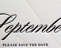 Letterpress Save the Date Card