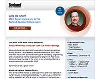 e-mail & Landing Page: Borland Speaker Series