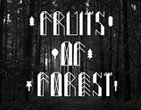 fruits of forest typeface