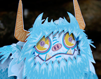 Neddy the Yeti Paper Toy