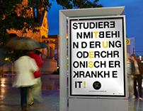 Barrierefreies Studieren – fictitious poster campaign