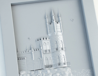 3D model for printing of the Swallow's Nest castle.