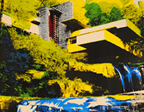 Falling Water Screen Print