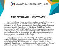 mba application essay samples