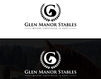 Glen Manor Stables Logo Design