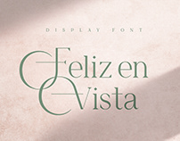 Feliz en Vista - Display Font