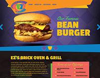 EZ's Brick Oven & Grill - restaurant web design