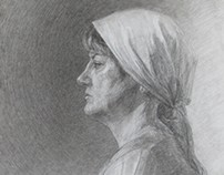 A woman in a scarf