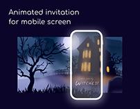 Halloween animated invitation