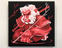 """Self-command"" 18""x18"" acrylics on canvas."