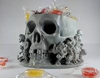 Skull candy holder