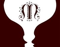 Etiqueta vino tinto (jugando con la gestal de la Bauhau