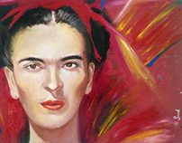 Frida Kahlo Portrait / Retrato de Frida Kahlo