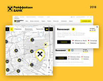 Raiffeisen Bank UX Branches & ATM's page