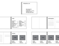 Book pages wireframe