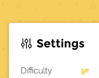 UI Element 06 - Settings