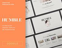 Humble Brand Editorial Google Slide By:Typetemp Studio