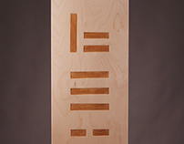 Modern engraved typography