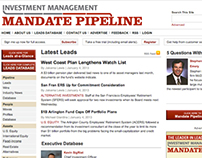 Investment Management Mandate Pipeline Website