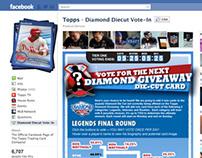 Topps Diamond Giveaway Die-Cut Facebook Voting App