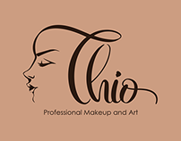 Thio - Professional Makeup and Art - Lettering Logo