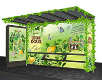 Creative bus stop for GARNIER Ultra Doux, 2012