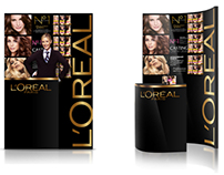 Promo stand for LOREAL, 2012