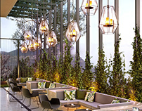 Restaurant terrace visualization.