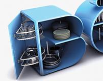 3D Design (Typographic kitchen)BÖLMEK / DIVIDE