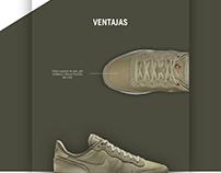 Landing Page Nike Internationalist