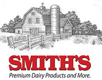 Smith's Dairy Brandmark Illustrated by Steven Noble