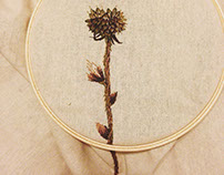 Embroidered plants