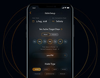 Habits - Mobile App Design