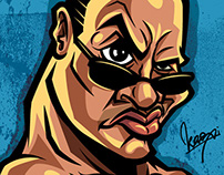 Dwayne Johnson, The Rock Caricature