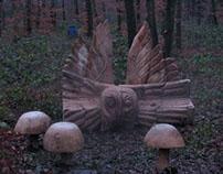 Lime Woods Environmental Wildlife Seating Sculpture