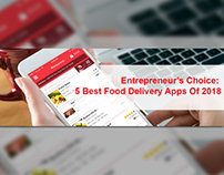 Top 5Food Delivery Apps in 2018