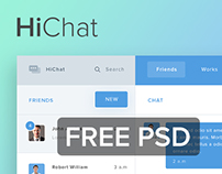 FREE DOWNLOAD - HiChat Free PSD