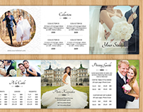 Square Trifold Wedding Photographer Pricing Guide