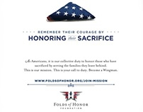Folds of Honor - Become A Wingman print ads