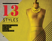 13 Styles Magazine Design