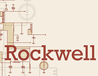 Rockwell / Typography Study Print