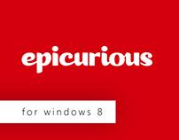 Epicurious for Windows 8